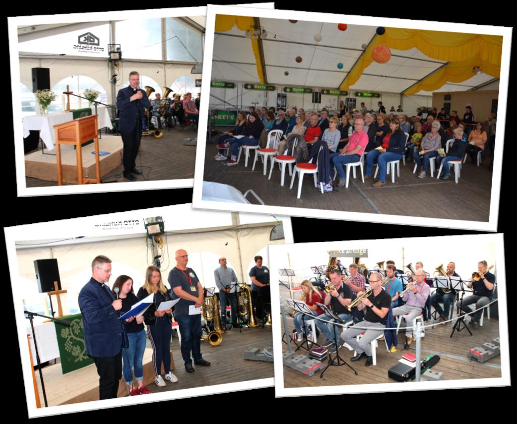 Gottesdienst auf dem Zeltlager 2019 in Barver