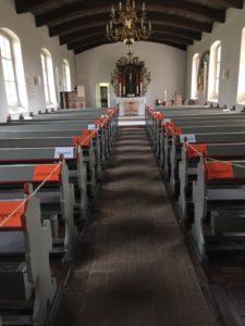 Abstandsregeln in der Barver Kirche